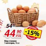 Яйцо столовое 1 категории, 10 шт.