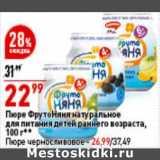 Пюре ФрутоНяня натуральное для питания детей раннего возраста - 22,99 руб / Пюре черносливное - 26,99 руб