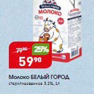 Акция - Молоко БЕЛЬЙ ГОРОД