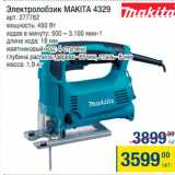 Магазин:Метро,Скидка:Электролобзик Makita