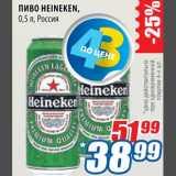 Магазин:Лента,Скидка:Пиво Heineken