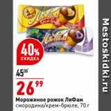 Магазин:Окей супермаркет,Скидка:Мороженое рожок ЛяФам смородина/крем-брюле