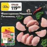 Магазин:Окей супермаркет,Скидка:Филе куриное Медальон Петелинка