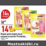 Корм для взрослых кошек и котят Friskies , Вес: 100 г