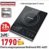 Скидка: Плита индукционная Redmond RIC-4601