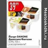 Карусель Акции - Йогурт DANONE Даниссимо