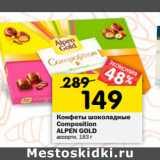 Конфеты шоколадные Composition Alpen Gold
