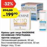 Карусель Акции - Кремы для лица Diademine