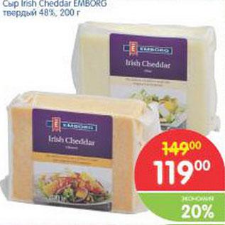 Акция сыр irish cheddar emborg