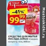 Магазин:Дикси,Скидка:СРЕДСТВО Для мытья ПОСУДЫ JUNGO «Cакура»