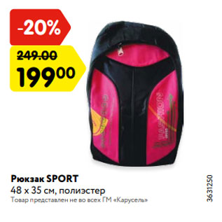 Акция - Рюкзак SPORT 48 х 35 см, полиэстер