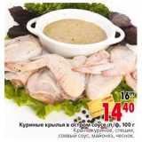 Магазин:Окей,Скидка:Куриные крылья остром соусе