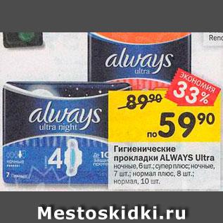 Акция - Прокладки Always