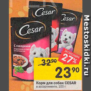 Акция - Корм для собак Cesar