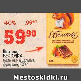 Акция - Шоколад Белочка