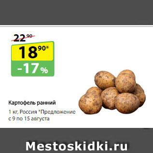 Акция - Картофель ранний, Россия