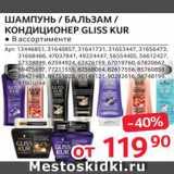 Магазин:Selgros,Скидка:Средства для волос Gliss Kur