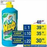 Метро Акции - Жидкость для мытья посуды Миф