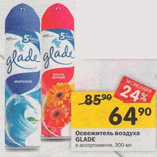 Акция - Освежитель воздуха Glade