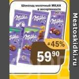 Перекрёсток Экспресс Акции - Шоколад молочный MILKA