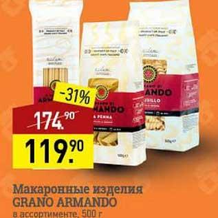 Акция - Макаронные изделия Grand Armando