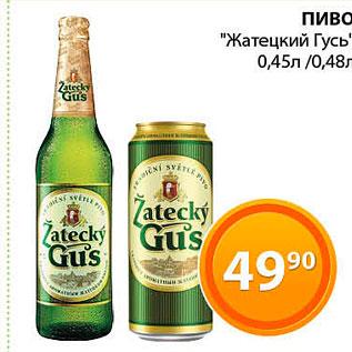 Акция - Пиво Жатецкий Гусь