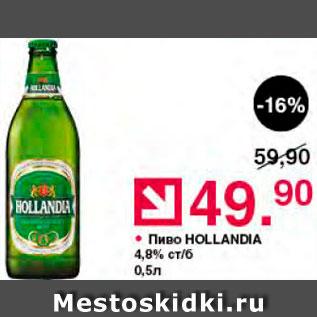 Акция - Пиво Hollandia