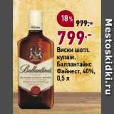 Скидка: Виски шотл. купаж. Баллантайнс Файнест, 40%