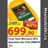 Матрица Акции - Сыр Гран Миззано 40% COLUMBUS