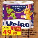 Матрица Акции - полотенца бумажные Linia Veiro classic