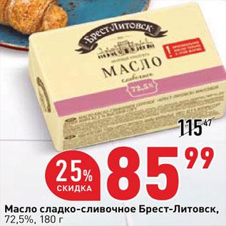 Акция - Масло сливочное Брест-Литовск