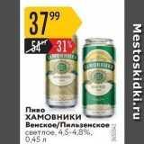 Карусель Акции - Пиво ХАМОВНИКИ