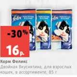 Скидка: Корм Феликс Двойная Вкуснятина, для взрослых кошек, в ассортименте, 85 г