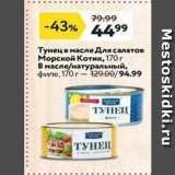 Магазин:Окей,Скидка:Тунец в масле Для салатов Морской Котик