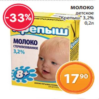 Акция - Молоко Крепыш