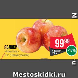Акция - Яблоки  «Роял Гала»  1 кг (Новый урожай