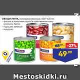 Скидка: ОВОЩИ ЛЕНТА, консервированные  фасоль в томатном соусе/в собственном соку: красная, белая;  горошек зеленый;  кукуруза