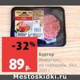 Виктория Акции - Бургер Мираторг