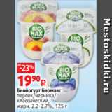 Магазин:Виктория,Скидка:Биойогурт Биомакс персик/черника/ классический, жирн. 2.2-2.7%, 125 г