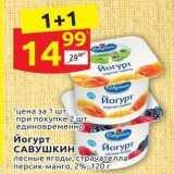 Магазин:Дикси,Скидка:Йогурт САВУШКИН