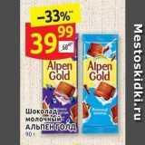 Магазин:Дикси,Скидка:Шоколад молочный АЛЬПЕН ГОЛД