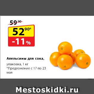 Акция - Апельсины для сока