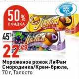 Магазин:Окей супермаркет,Скидка:Мороженое рожок ЛяФам Талосто