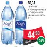 Spar Акции - Вода питьевая – негазированная – газированная «Аква минерале» 2 л