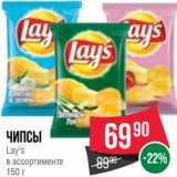 Spar Акции - Чипсы Lay's в ассортименте 150 г