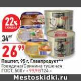 Окей супермаркет Акции - Паштет,  Главпродукт