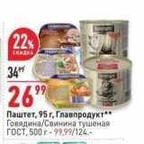 Магазин:Окей,Скидка:Паштет, 95 r, Главпродукт