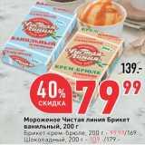 Окей супермаркет Акции - Мороженое Чистая линия