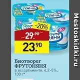 Магазин:Мираторг,Скидка:Биотворог ФРУТОНЯНЯ