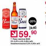 Пиво светлое BUD